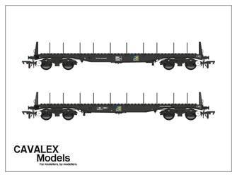 Railfreight Metals BBA Bogie Steel Wagon Twin Pack (Exclusive)