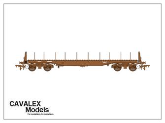 Plain Brown BBA Bogie Steel Wagon No.910217