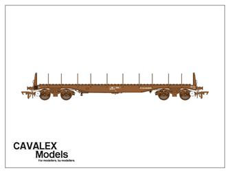 Plain Brown BBA Bogie Steel Wagon No.910344