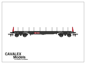 Railfreight BBA Bogie Steel Wagon No.910386