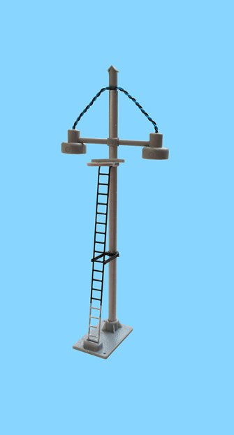 ECKON double bowl head short yard lamp (Black Ladder with White base)