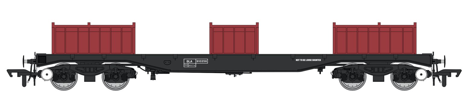 Set of 3 Railfreight BLA Bogie Steel Wagons