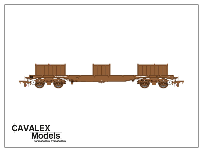 Plain Brown BLA Bogie Steel Wagon No.910025 (Exclusive)