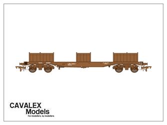 Plain Brown BLA Bogie Steel Wagon No.910217