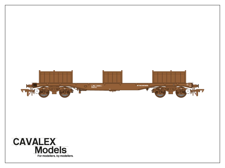 Plain Brown BLA Bogie Steel Wagon No.910314