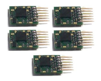 Classic Decoder - 6 Pin Plug-in N Scale Decoder (5 Pack)