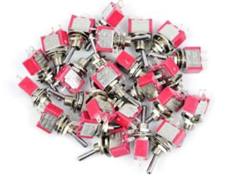Bulk Pack of 25 Mini-Toggle Switches SPST