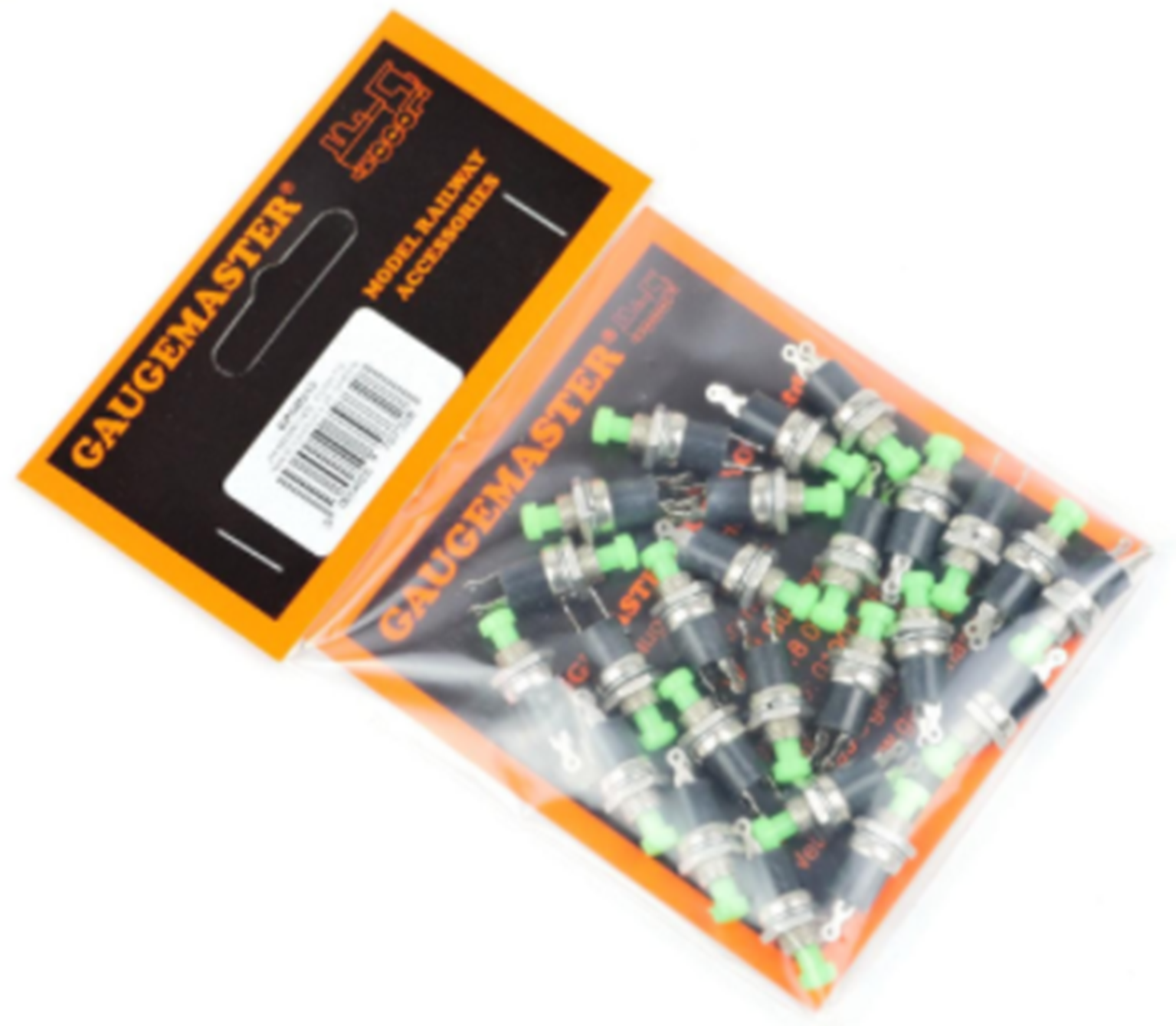 Bulk Pack of 25 Push to Make Switches in Green