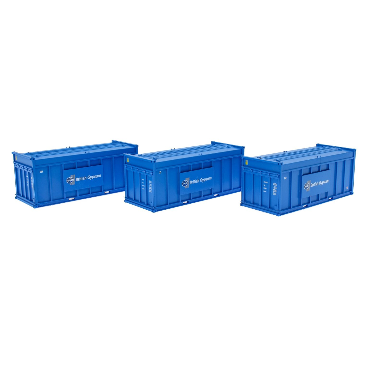 Pack of 3 Gypsum 20' Containers - Blue Containers