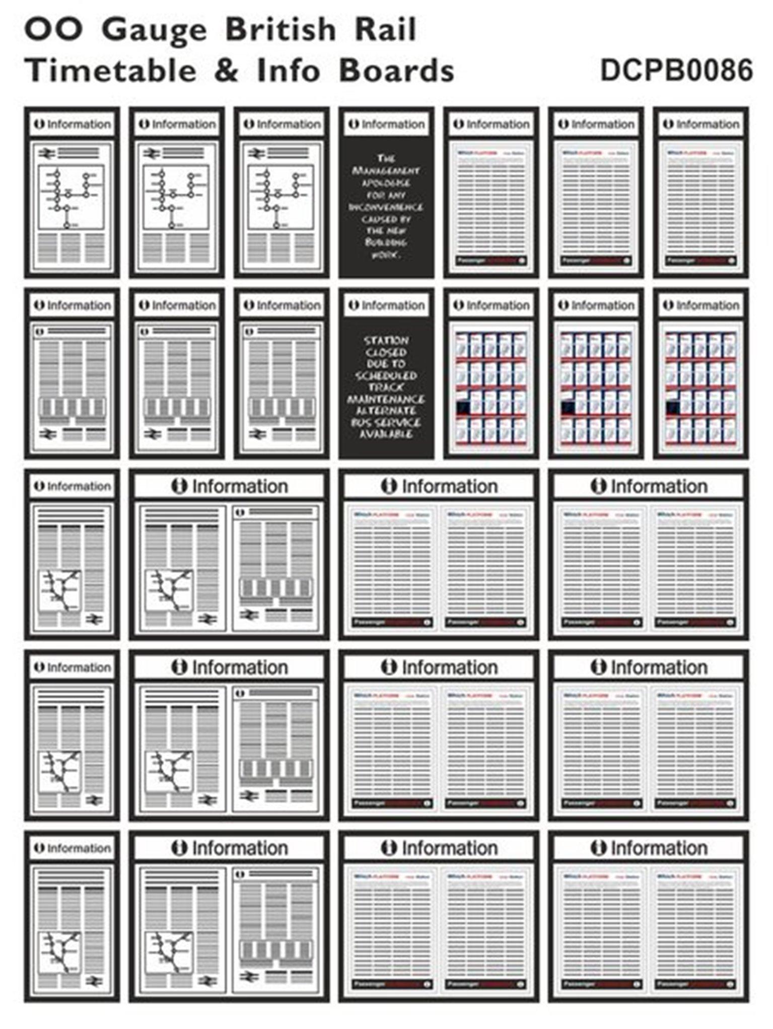 British Rail Timetable & Info Boards