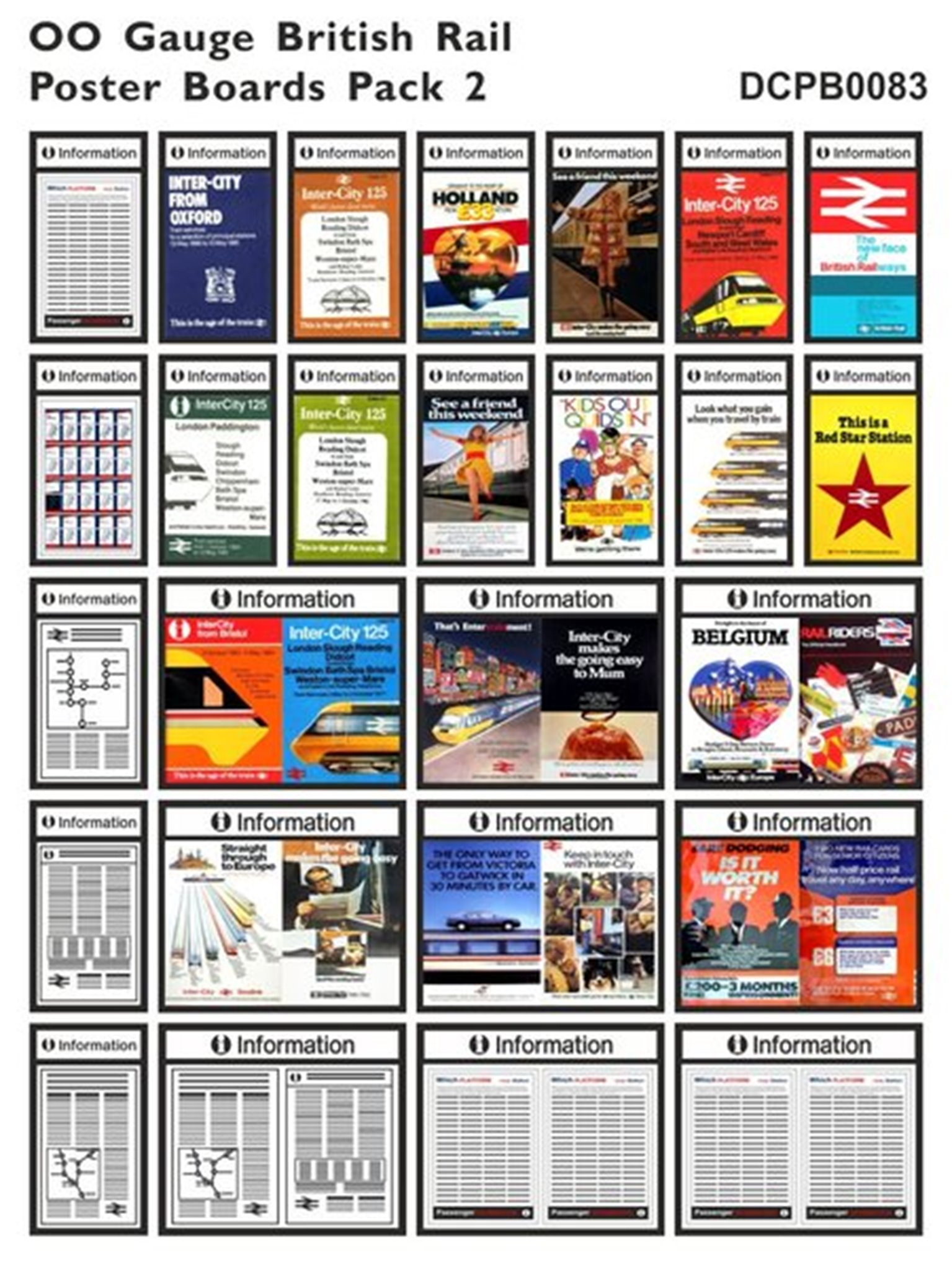 British Rail Poster Boards Pack 2