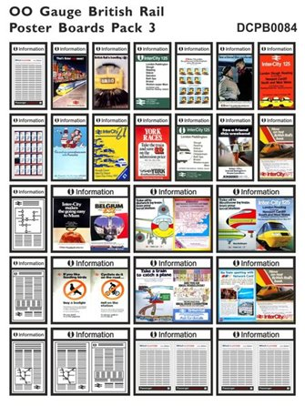 British Rail Poster Boards Pack 3
