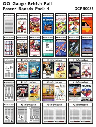British Rail Poster Boards Pack 4