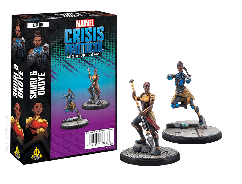 CP08 Marvel Crisis Protocol Shuri & Okoye