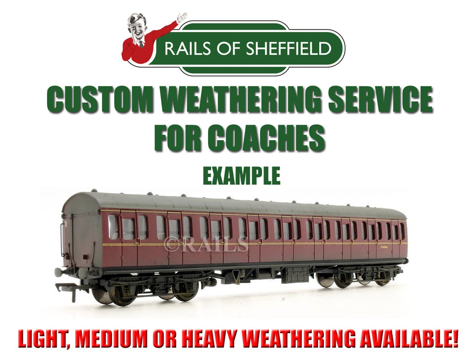 Custom Weathering Service *O GAUGE COACHES ONLY*