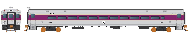 HO Scale Comet Car: MBTA Set 1 (607, 620, 1634)