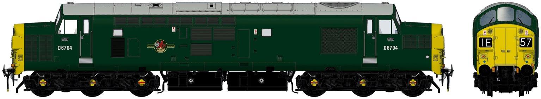 Class 37/0 D6704 BR Green Diesel Locomotive