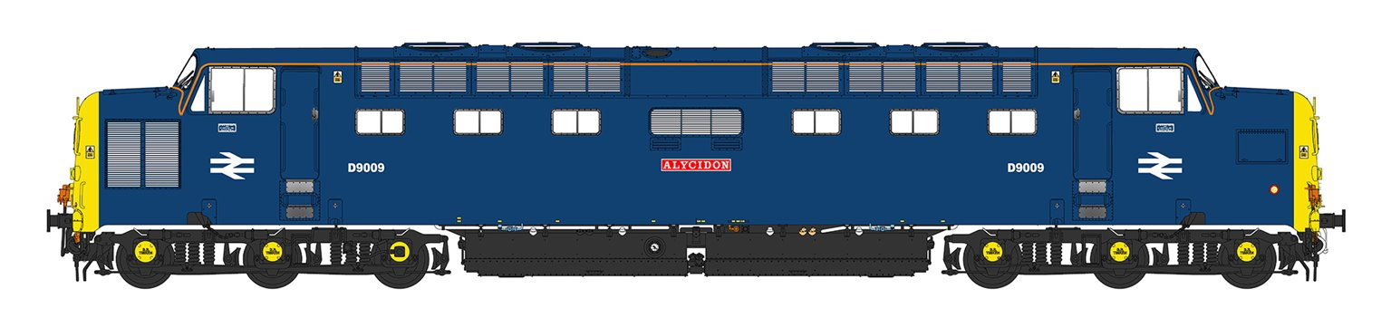 'Alycidon' Class 55 D9009 Deltic in BR Blue with pre-TOPS number (for mainline running)