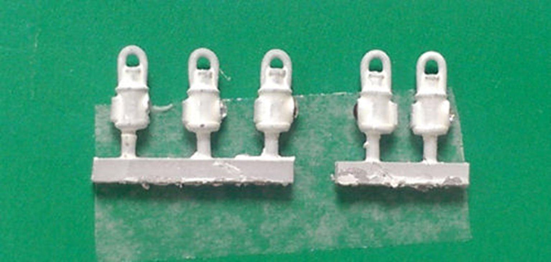 Springside DA5 LNER Head & Tail Lamps Lamps White (5)