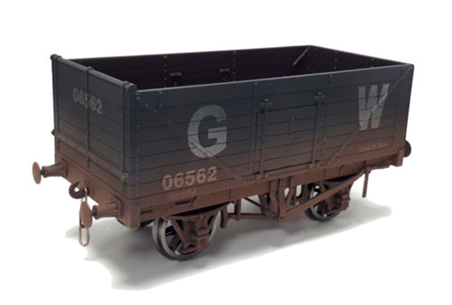 7F-071-033W 7 Plank Wagon GWR 06562 Weathered