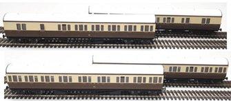 LHT-620 Suburban B 4 Coach Set GWR Birmingham Division 50 C/Cream