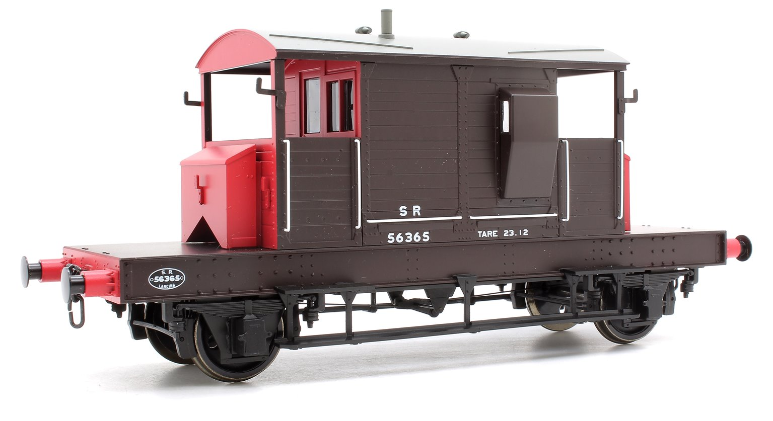 Pill Box Brake Van 56365 S R Brown/Red small letters (Uneven Plank)