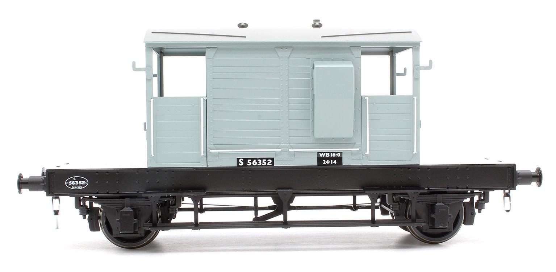 Pill Box Brake Van 56352 B.R Grey (Uneven Plank)