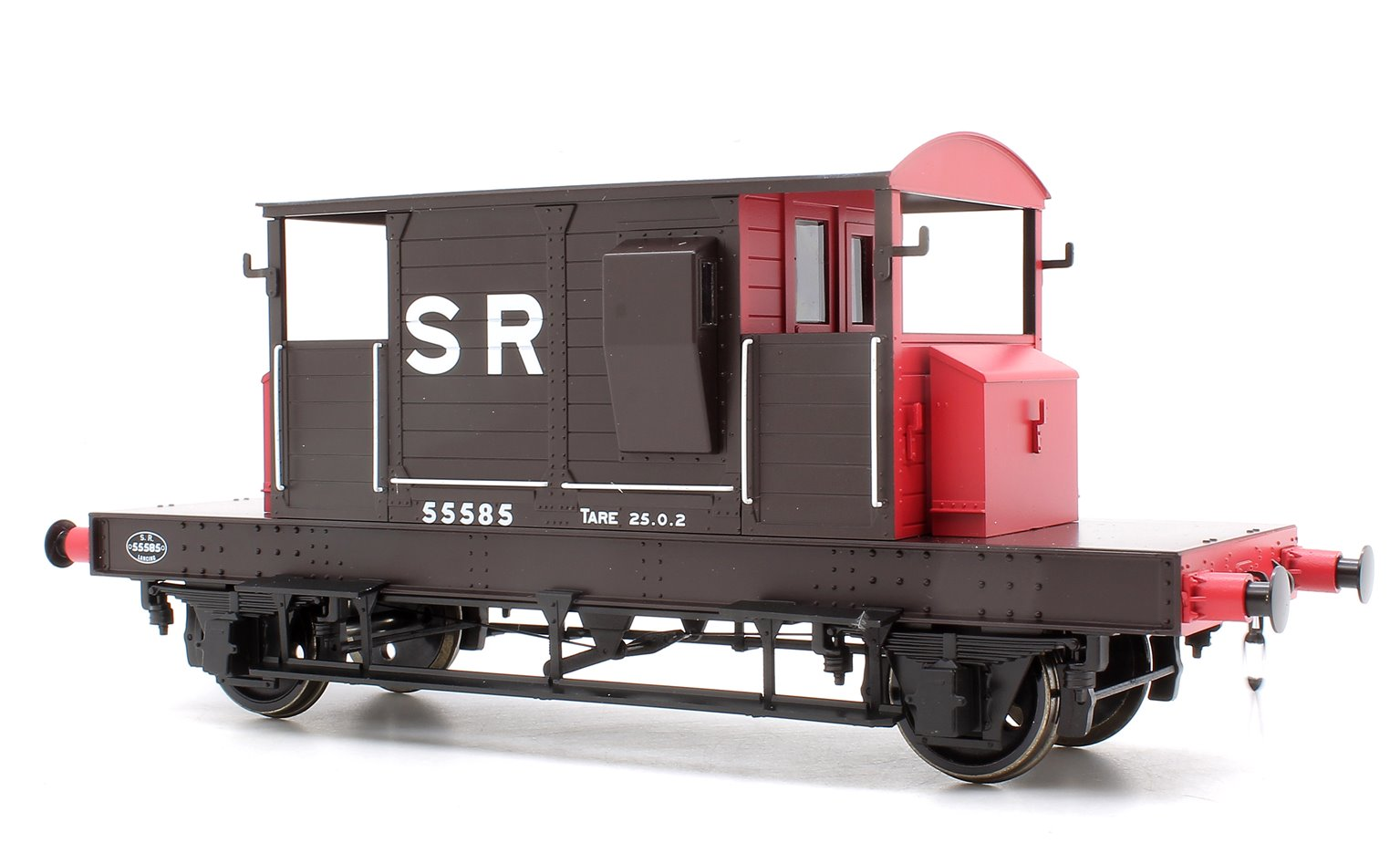 Pill Box Brake Van 55585 S R Brown/Red Large letters (Even Plank)
