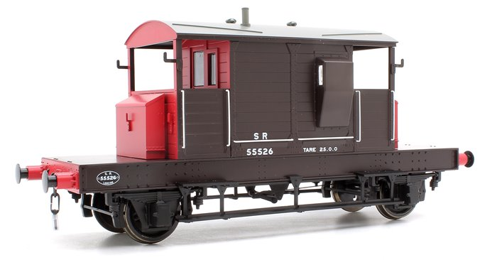 Pill Box Brake Van 55526 S R Brown/Red small letters (Even Plank)
