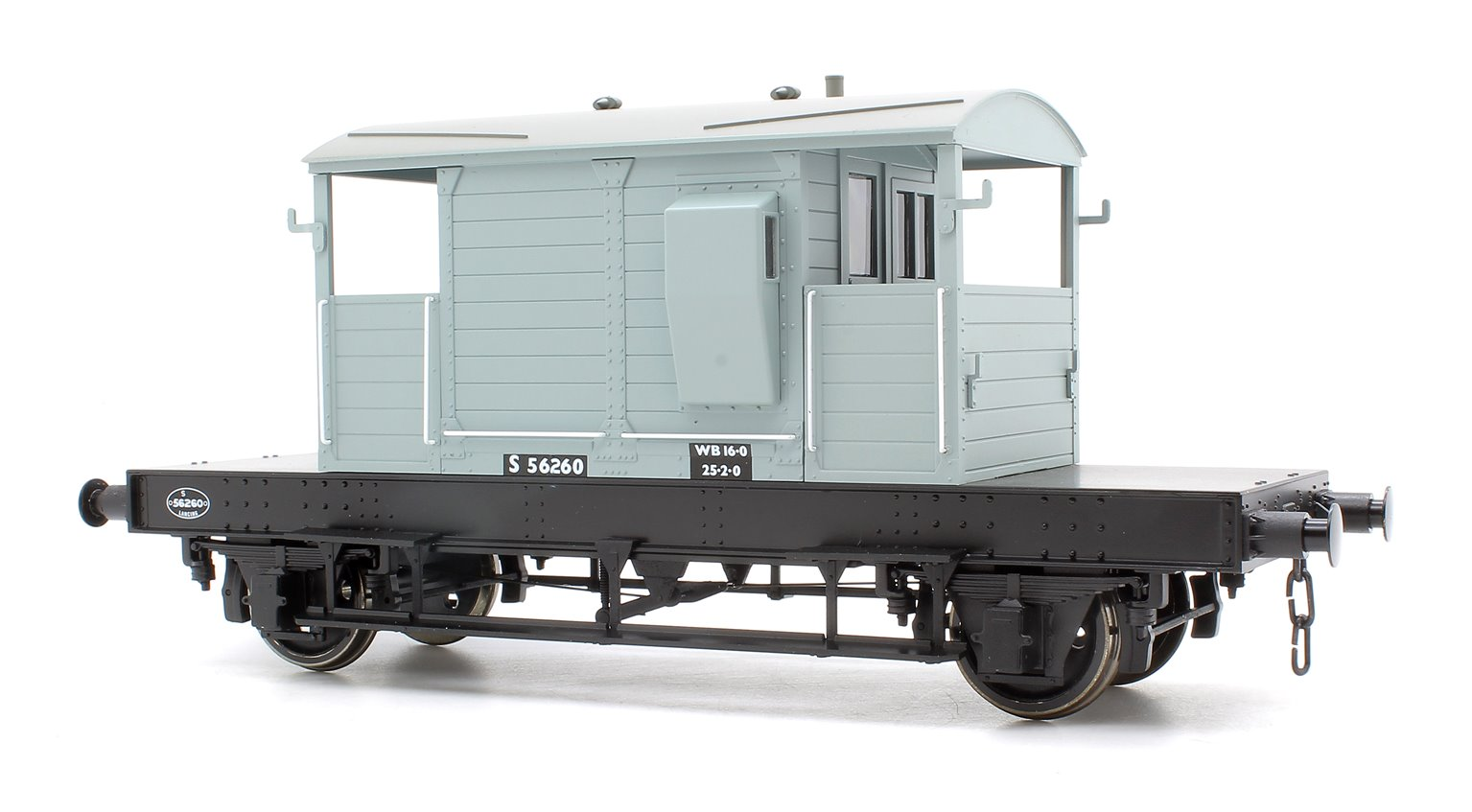 Pill Box Brake Van S56260 B.R Grey (Even Plank)