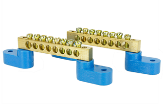 Solid Brass Power Distribution Bars (2)