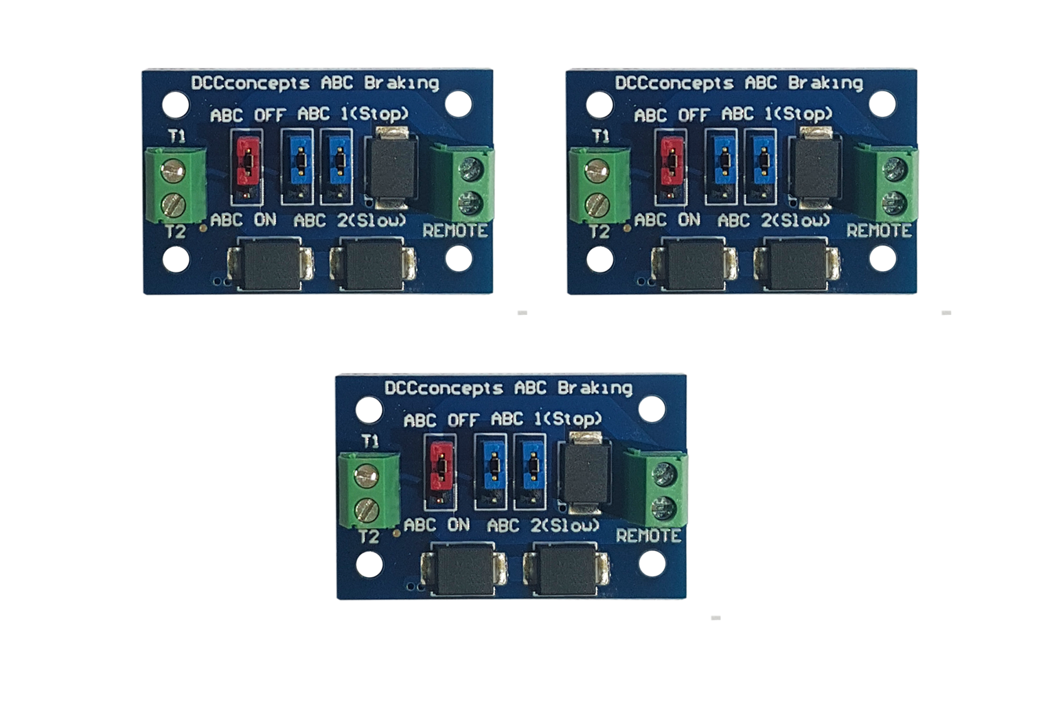 Pack of 3 ABC slow or stop modules