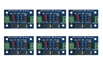 Pack of 6 ABC slow or stop modules