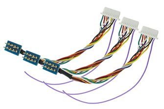 NEM652 8 Pin to JST Harness (For ZNmini.4 Decoders) (3 Pack)