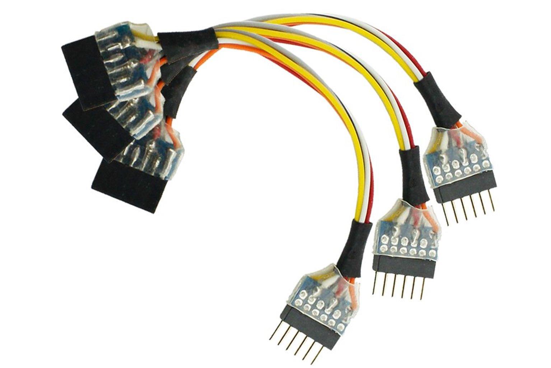 NEM651 6 Pin Plug to 6 Pin Socket Harness (3 Pack)
