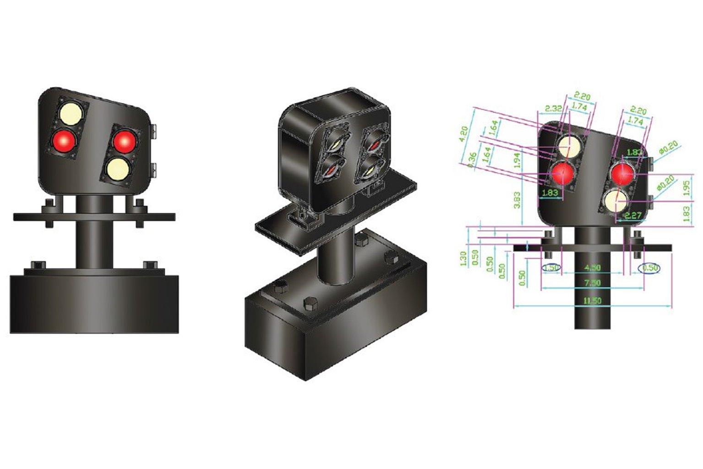 Alpha Mimic 12x 4 LED UK Modern Ground Signal