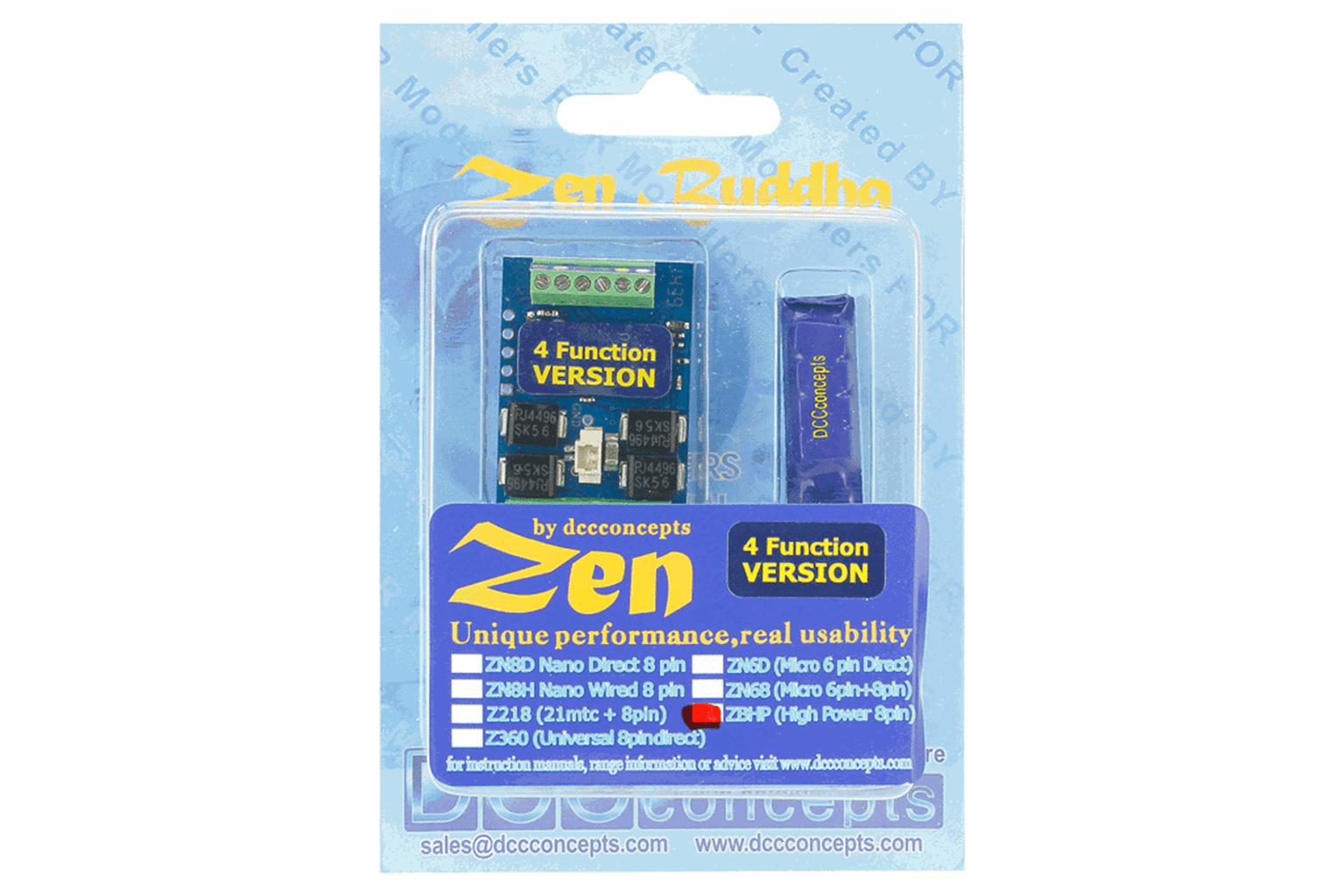 Zen Buddah 4 Function 3a Decoder with Stay Alive