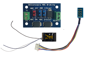 Zen Black Decoder: 21 pin MTC and 8 pin connection. 6 full power functions. Includes 1x ABC module.