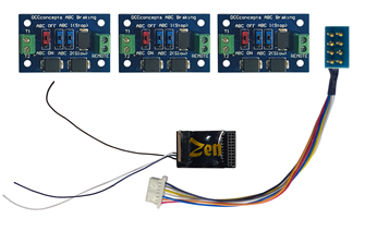 Zen Black Shuttle Pack – Includes Zen Black 21 & 8-pin 6 function decoder and 3 ABC modules.