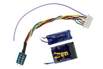 DCC Concepts DCD-Z218  ZEN 218 21 & 8 Pin 6 Function Decoder w/Stay Alive