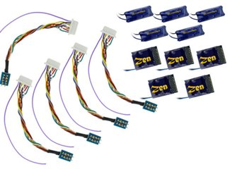 DCC Concepts DCD-218.6 ZEN 218 21 & 8 Pin 6 Fn Decoder w/Stay Alive (5 Pack)