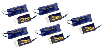 DCC Concepts DCD-ZN6D-5  ZEN 6 PIN Direct 2 Function Decoder w/Stay Alive (5 Pack)