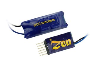 DCC Concepts DCD-ZN6D  ZEN 6 PIN Direct 2 Function Decoder w/Stay Alive