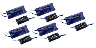 DCC Concepts DCD-ZN8D-5  ZEN NANO 8 Pin Direct 4 Fn Decoder w/Stay Alive (5 Pack)