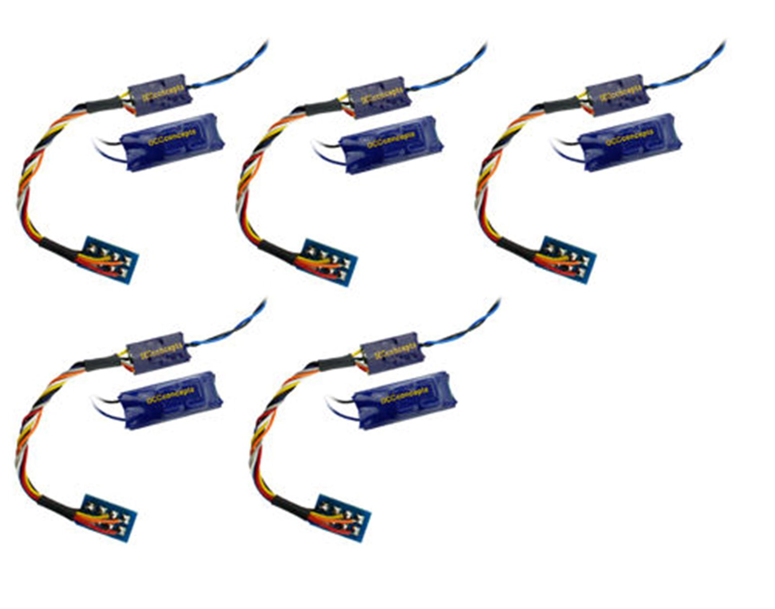 DCC Concepts DCD-ZN8H-5  ZEN NANO 8 Pin Wired 4 Fn Decoder w/Stay Alive (5 Pack)