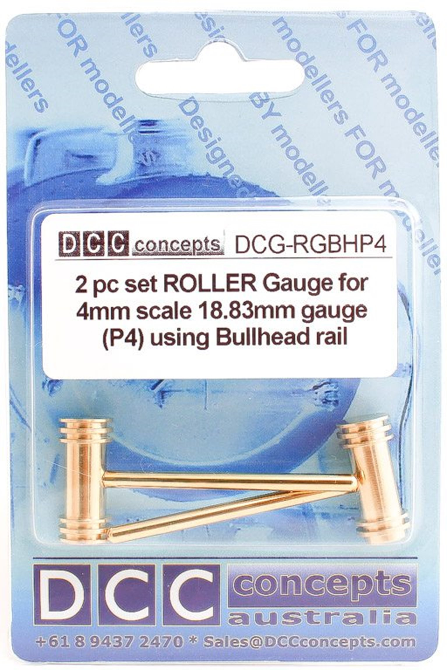 Roller Gauge (w/handle) P4 Scale 18.83mm BH (2 Pack)
