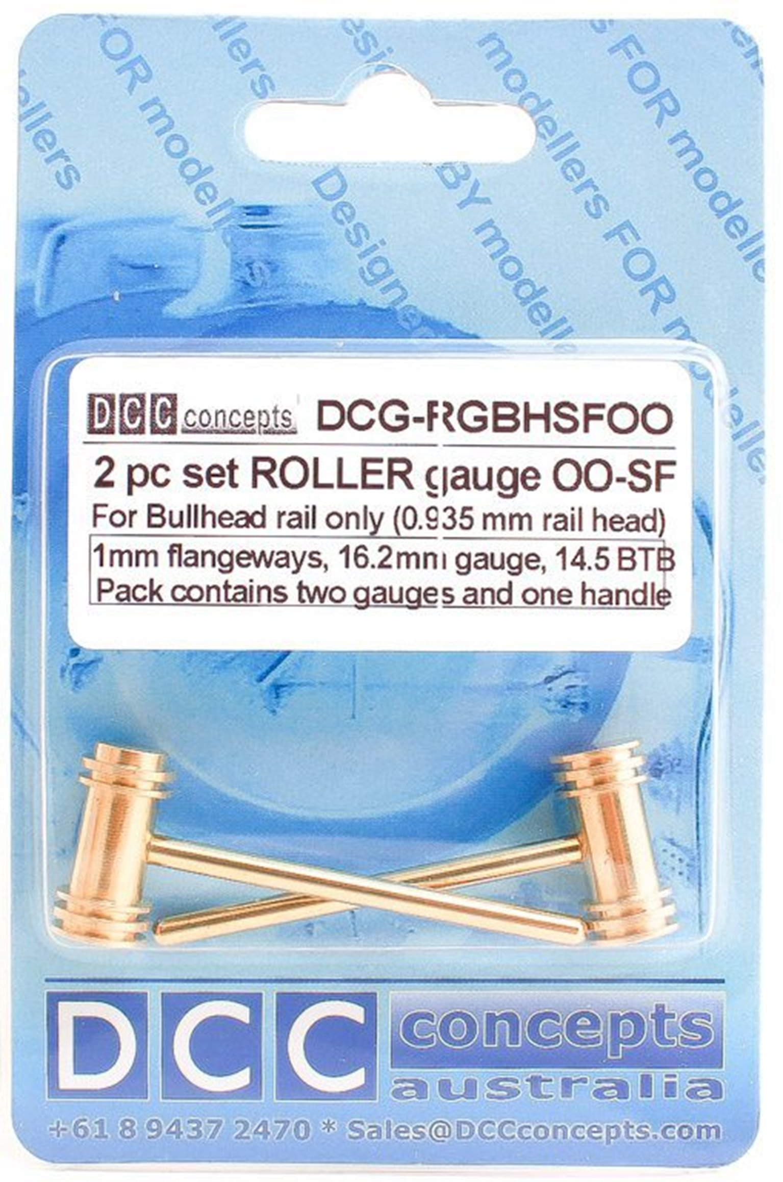 Roller Gauge (w/handle)  OO/HO (Special Fine)  16.2mm BH (2 Pack)