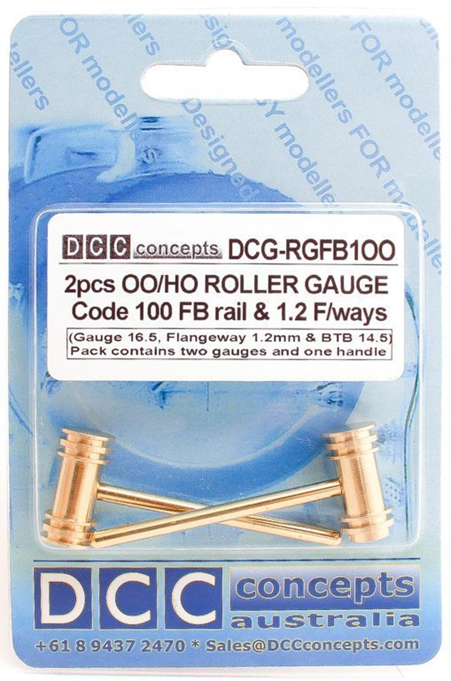 Roller Gauge (w/handle) OO/HO (Standard) 16.5mm FB (2 Pack)