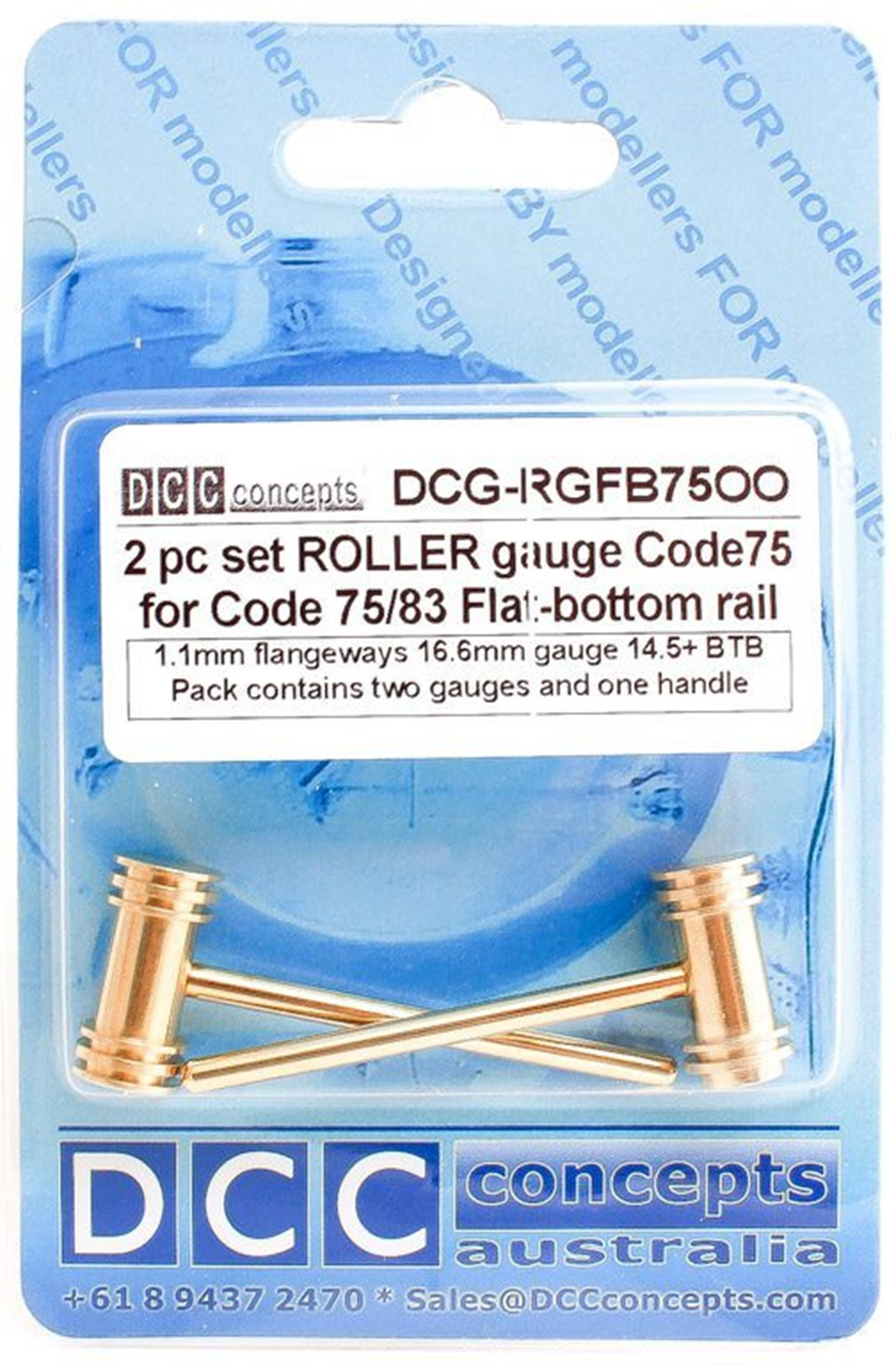 Roller Gauge (w/handle) OO/HO (Fine) 16.5mm FB (2 Pack)