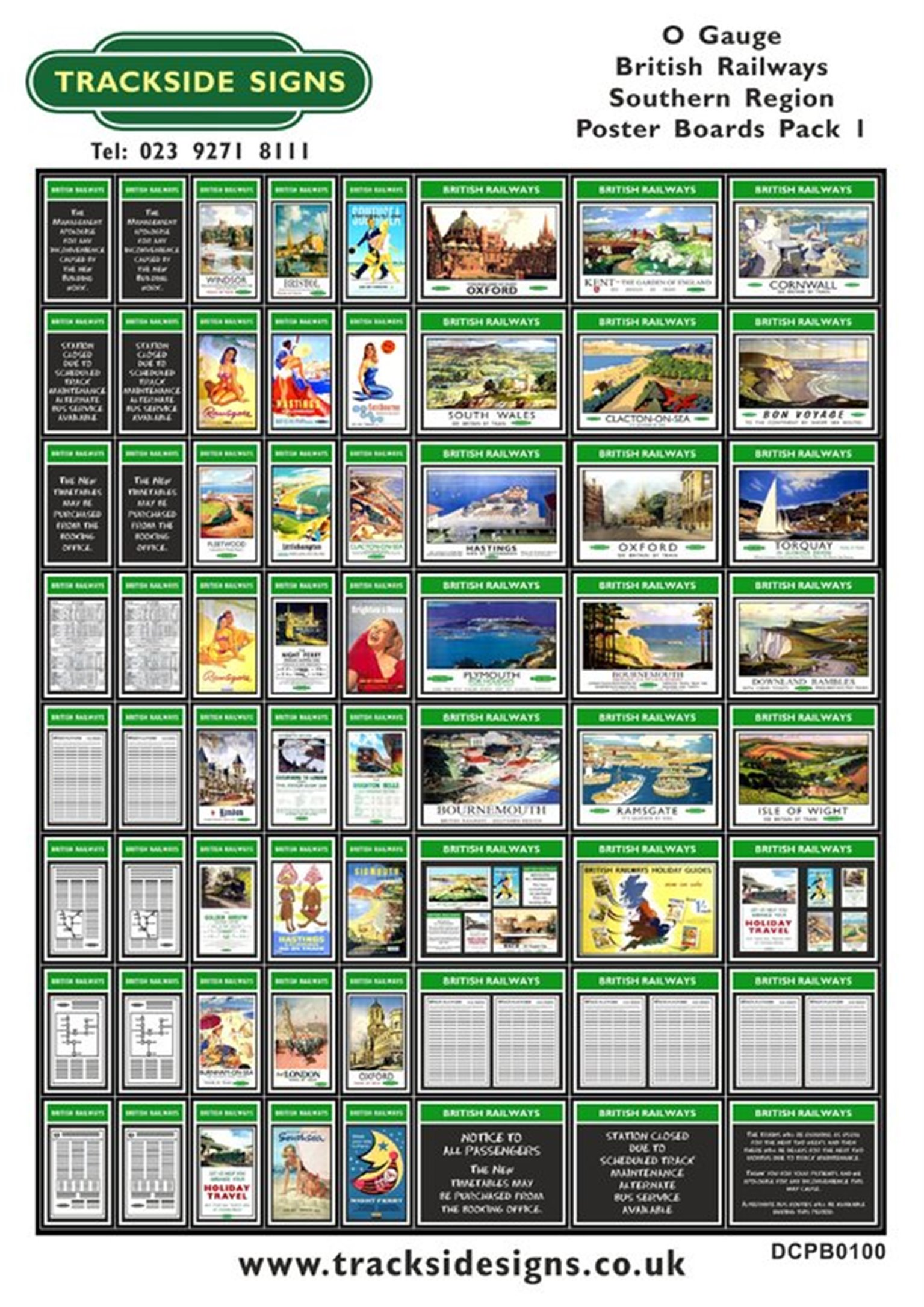Die Cut BR Southern Region Poster Boards